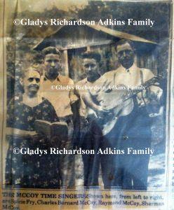 The McCoy Time Singers (l-r) of Wayne County, WV: Spicy Fry, Charles Bernard McCoy, Raymond McCoy, and Sherman McCoy
