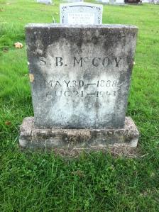 Sherman Boyd McCoy grave, located at Community Memorial Gardens, Armilda, Wayne County, WV, 26 October 2014