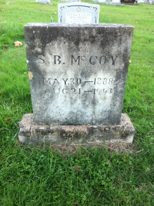 Sherman Boyd McCoy grave, located at Community Memorial Gardens, Armilda, Wayne County, WV, 26 October 2014