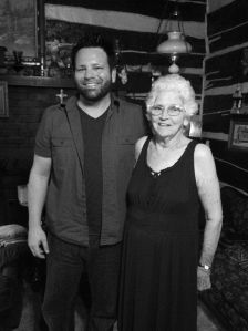 Here I am during a recent visit with my friend Faye Smith, the granddaughter of Spicie (Adkins) McCoy-Fry
