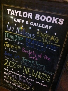 Taylor Books in Charleston, WV, 30 May 2015