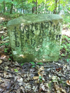 John Gore grave, located on West Fork of Harts Creek, Logan County, WV. I discovered this grave yesterday