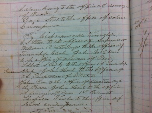 Chapmanville Township officers elected 22 October 1868, November 1868. Commissioners Record Book 1 (p. 112), Logan County Clerk's Office, Logan, WV.