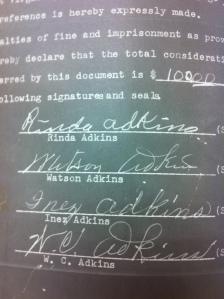 Adkins Family Signatures 1