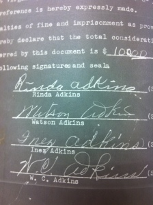 Adkins Family Signatures 1
