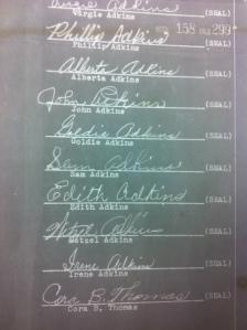Adkins Family Signatures 2