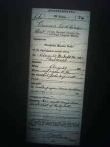 Cain Adkins military record 2