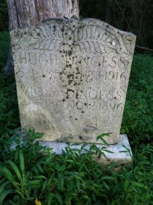 Hugh and Viola (Dingess) Dingess grave, Smokehouse Fork of Harts Creek, Logan County, WV, 24 August 2014