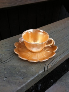 Jessie Brumfield cup and saucer, Harts, WV, 2014
