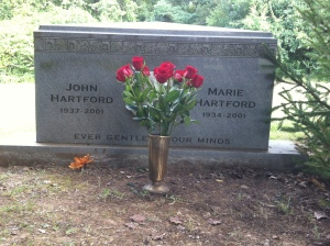 During my recent trip to Nashville, I visited John's grave and placed flowers.