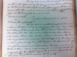 William Wirt Brumfield was found guilty of assault and fined $5. Cabell Law Order Book 1, County Clerk's Office, Huntington, WV