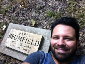 I recently visited Paris Brumfield's grave at Lucas Cemetery on Sand Creek ridge in Lincoln County, WV. 3 September 2015