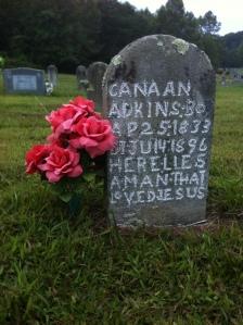 Canaan Adkins grave, Community Memorial Gardens, Armilda, WV, 11 September 2015