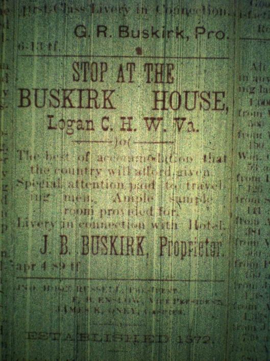 Logan County Banner (Logan, WV), 21 November 1889