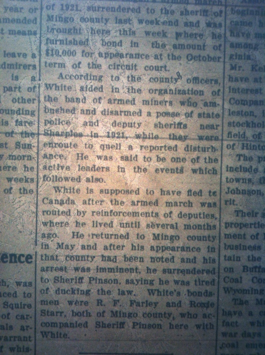 Lewis White Blair Mountain LB 08.01.1924 2