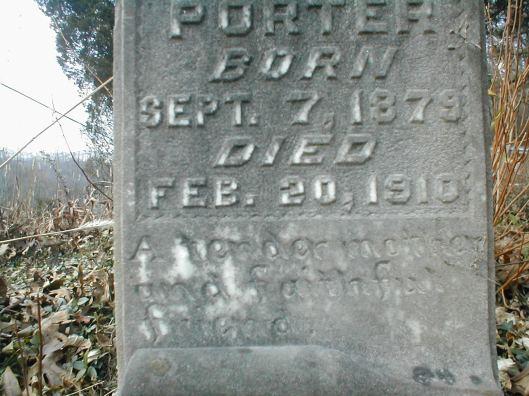 Aquillia Porter Runyon grave 2