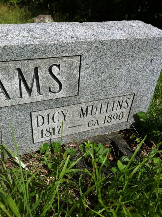 Dicy Mullins Adams grave 1