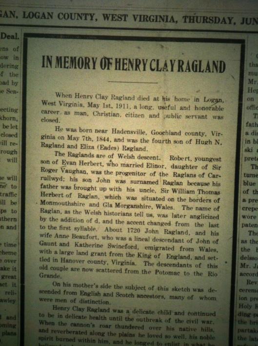 Henry Clay Ragland LD 06.29.1911 1
