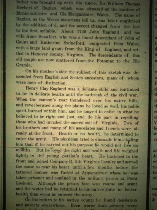 Henry Clay Ragland LD 06.29.1911 2