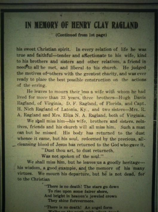 Henry Clay Ragland LD 06.29.1911 5