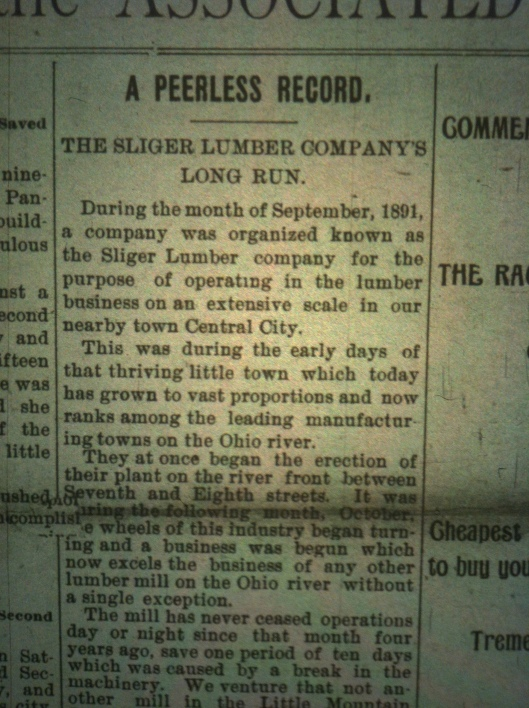 Sliger Lumber Company HA 09.23.1895 1