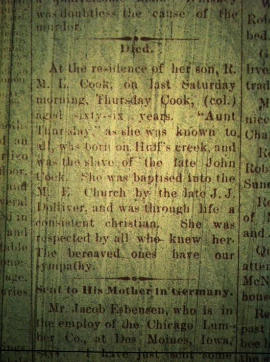 Former Slave Obit LCB 09.04.1895
