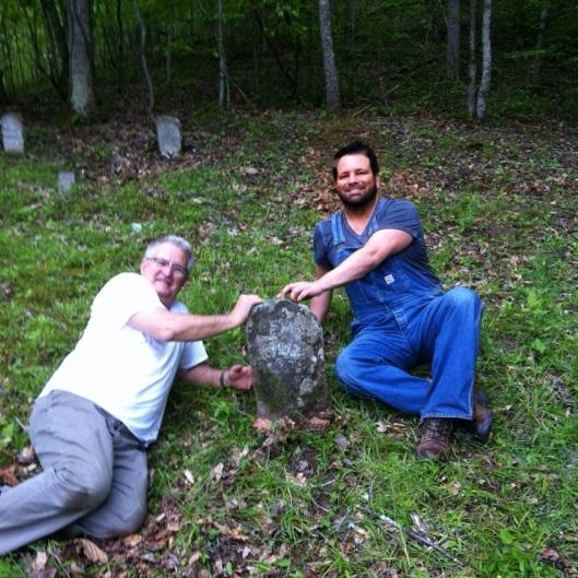 BK and Dad at EM grave 8