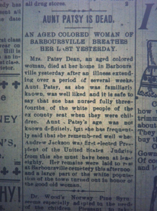 aunt-patsy-dean-colored-woman-dead-hua-1899