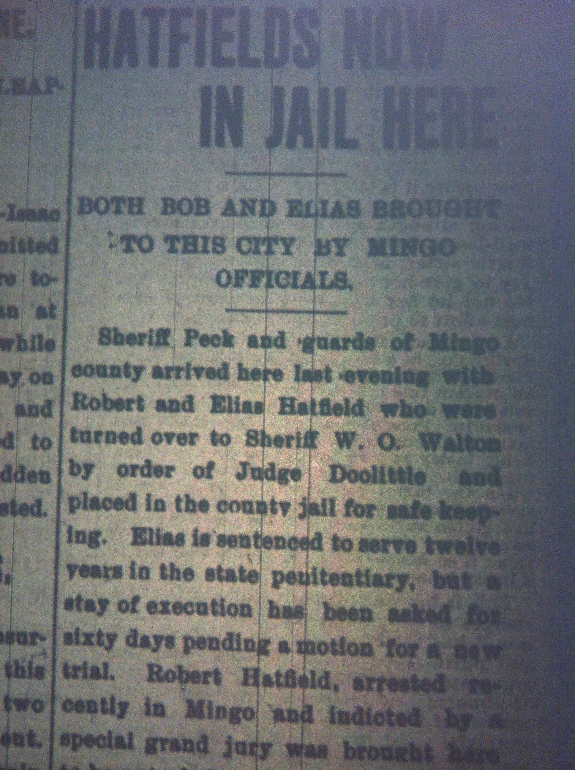 Bob and Elias Hatfield in Jail HA 09.22.1899 1