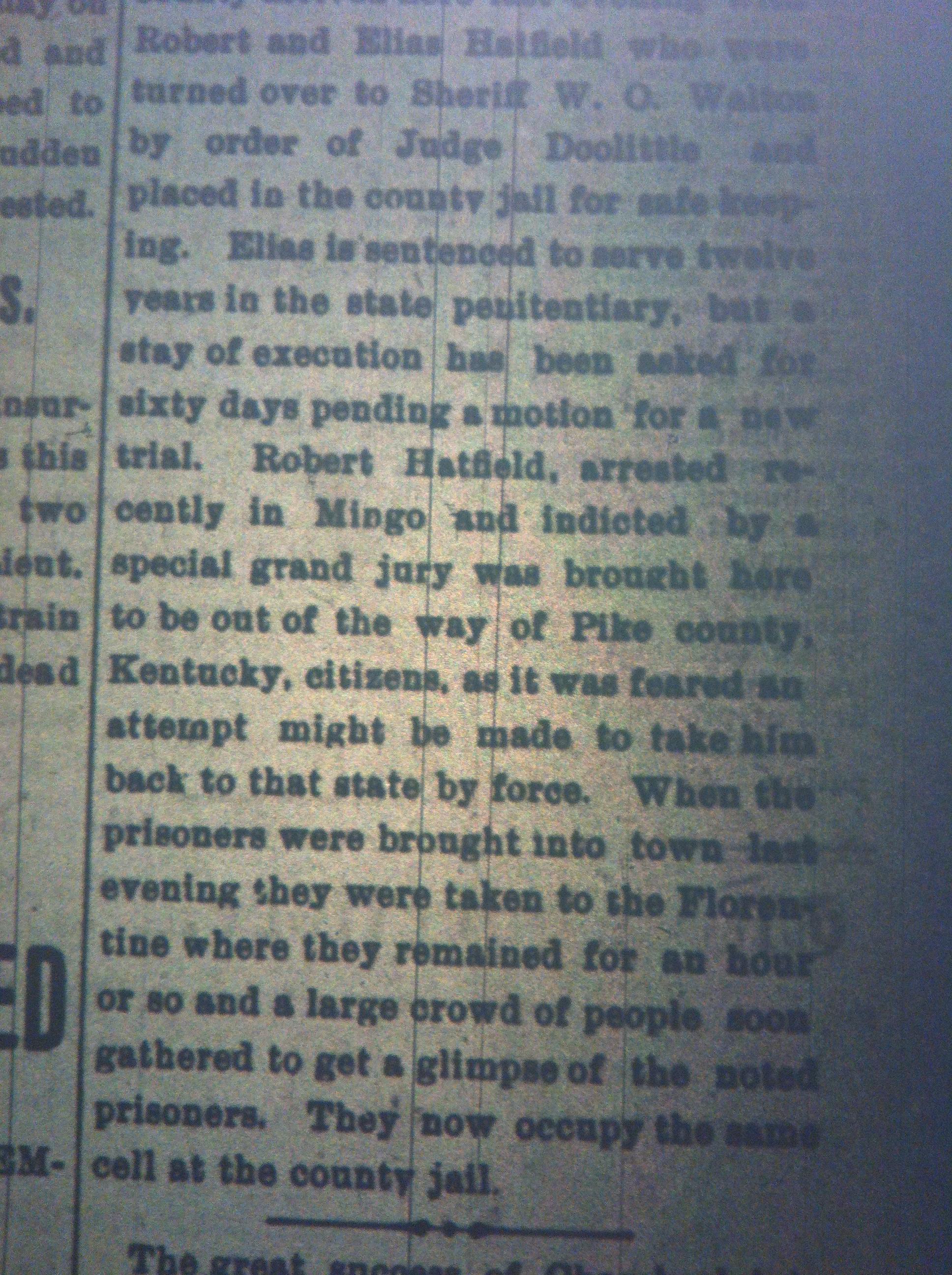 Bob and Elias Hatfield in Jail HA 09.22.1899 2