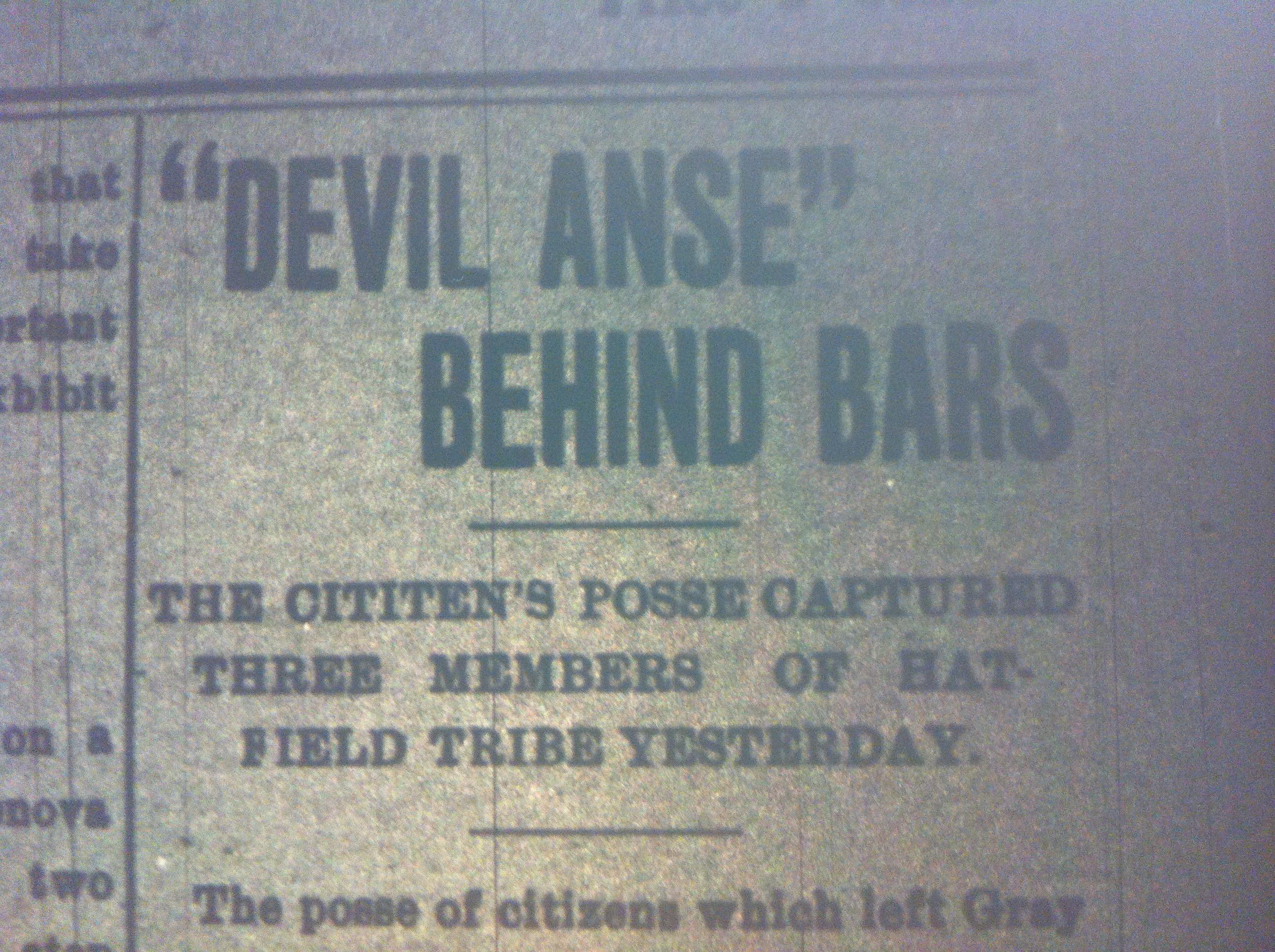 Devil Anse Behind Bars HA 09.12.1899 1