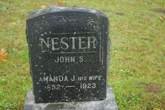John S Nester grave in WA