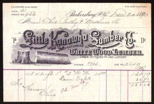 Little Kanawha Lumber Company Letterhead 1890.jpg
