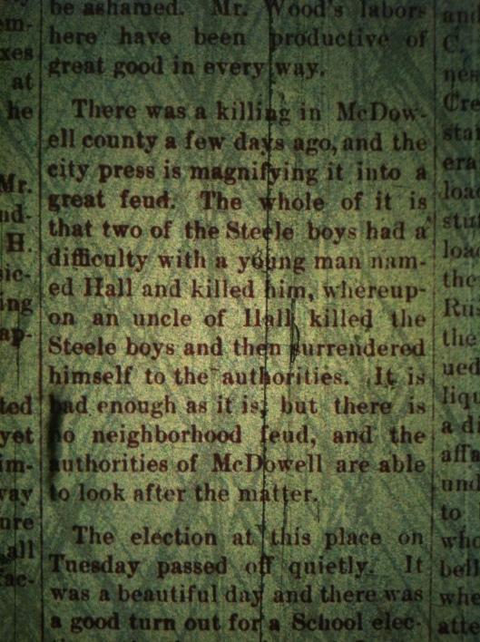 McDowell County Feud LCB 05.21.1891
