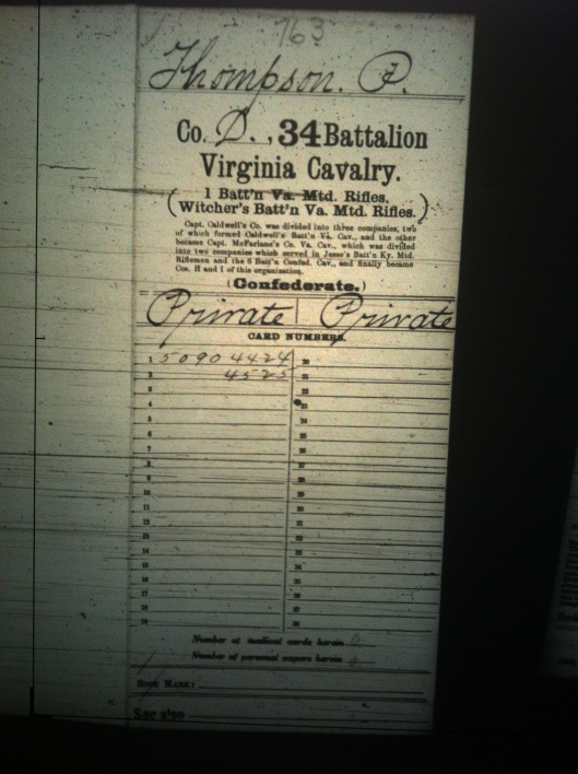 P Thompson military record 1
