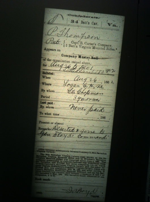 P Thompson military record 2