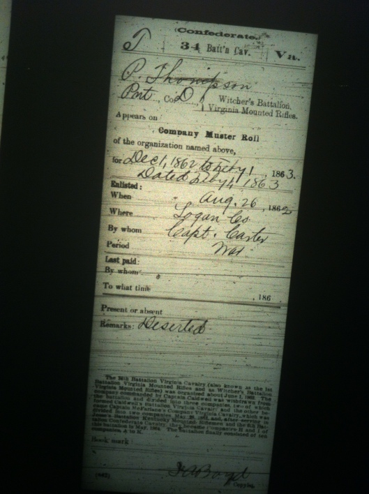 P Thompson military record 3