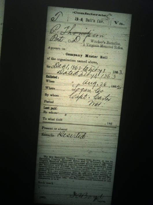 P Thompson military record 3