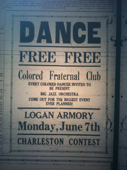 Free Colored Dance in Logan LB 06.04.1926