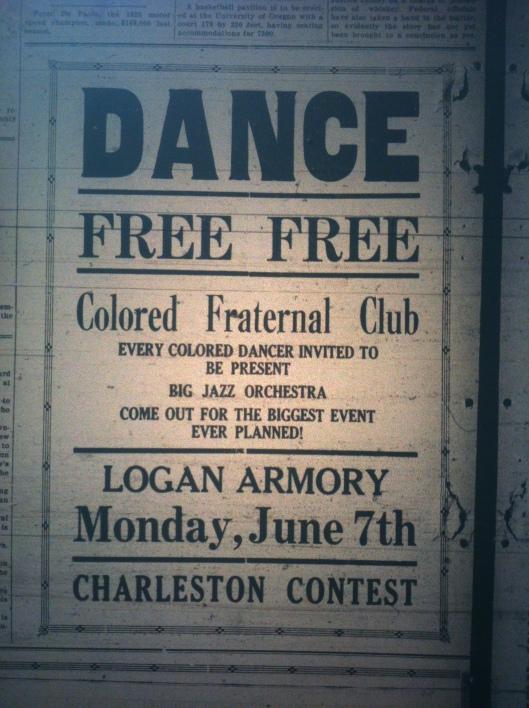 Free Colored Dance in Logan LB 06.04.1926