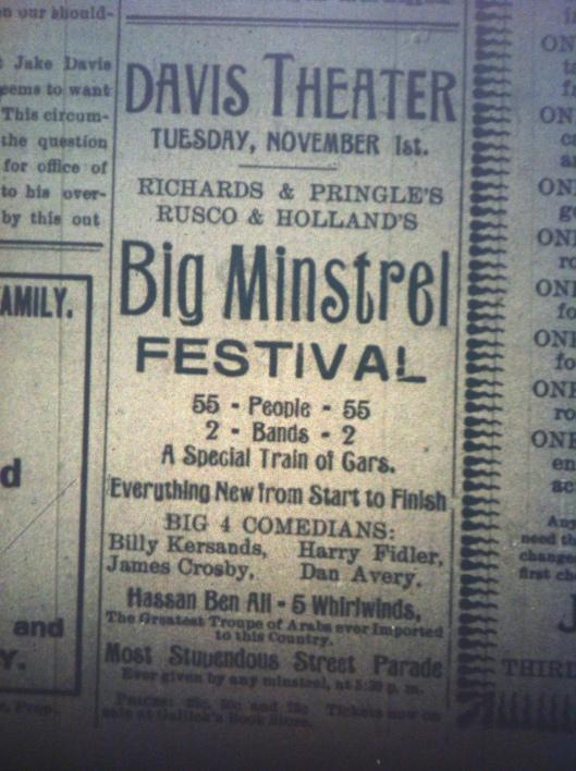 Minstrel Festival HuA 10.26.1898