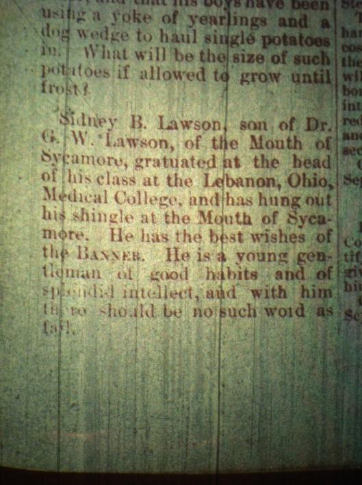Sidney B. Lawson LCB 09.18.1890