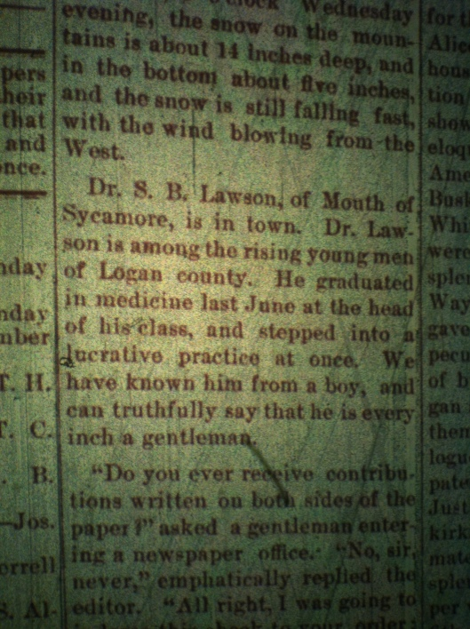 Sidney B. Lawson LCB 12.18.1890