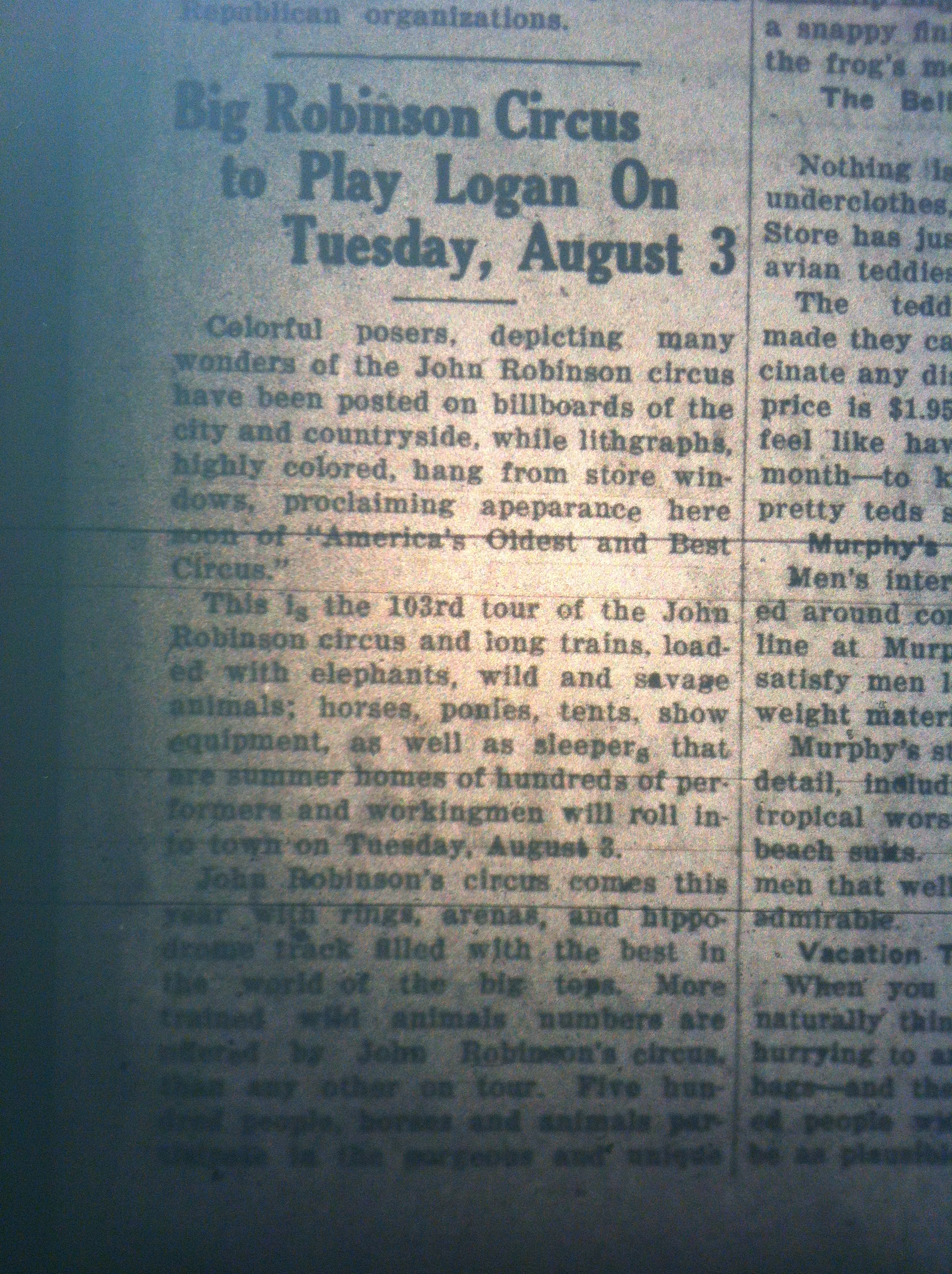Circus in Logan LB 07.20.1926 1