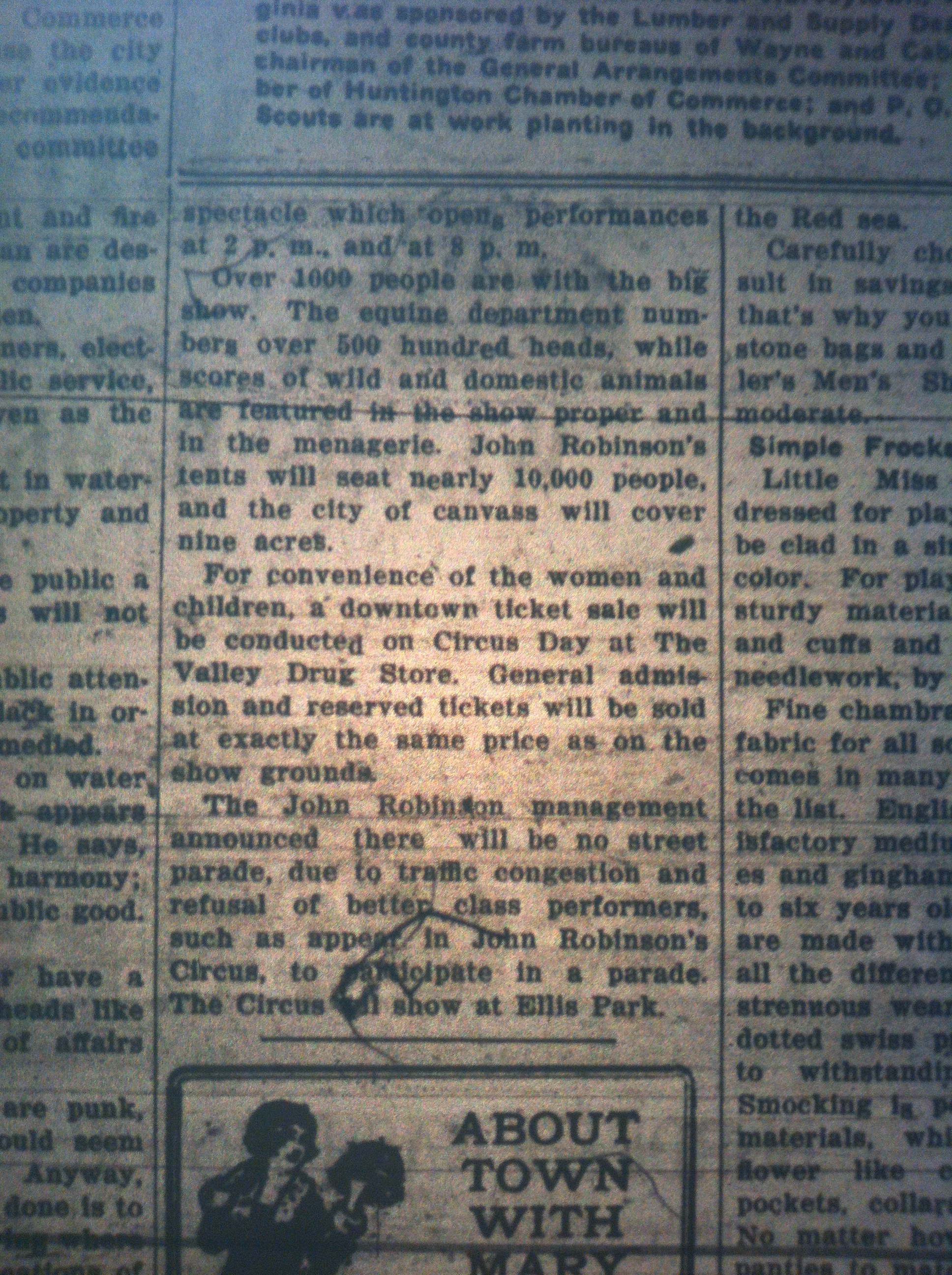 Circus in Logan LB 07.20.1926 2