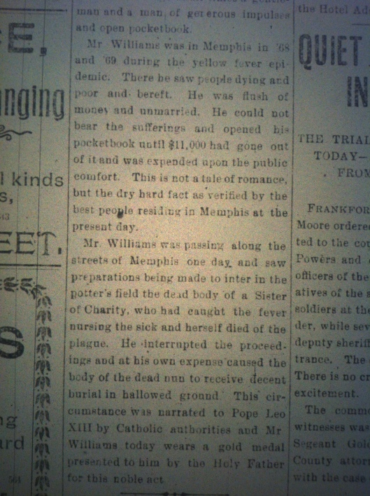 Minstrel Billy Williams in Huntington HA 03.23.1900 2