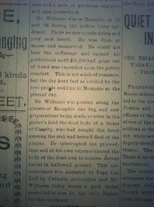 Minstrel Billy Williams in Huntington HA 03.23.1900 2