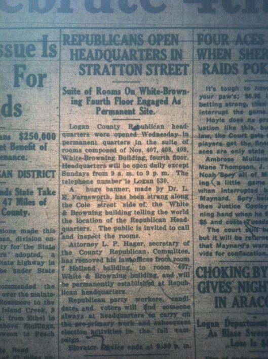 Republican HQ on Stratton Street LB 07.02.1926 2