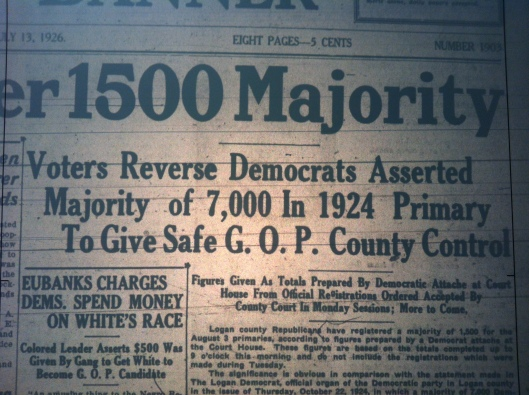 Republican Majority in Logan LB 07.13.1926 2