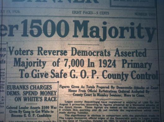Republican Majority in Logan LB 07.13.1926 2